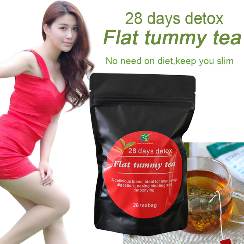 Slimming Tea <font><b>28</b></font> <font><b>Days</b></font> <font><b>Detox</b></font> Chinese Health Diet Weight Loss Tea Slimming Aid Burn Fat Thin Belly Prett Scented Herbal Tea image