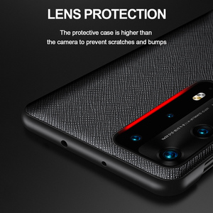 Image 4 - Original Genuine Leather Flip Cover for Huawei P40 Pro Plus Case Mirror Smart Touch View Windows for Huawei P30 P20 Pro Case