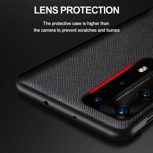 Image 4 - Originele Lederen Flip Cover Voor Huawei P40 Pro Plus Case Spiegel Smart Touch View Windows Voor Huawei P30 P20 pro Case