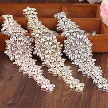 TRiXY S319-Г Золотой Стразами Ремень Свадебные Пояса Свадебные Блестящие Вечерние Платья