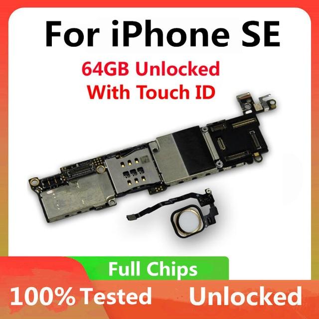 100% carte mère déverrouillée pour iPhone SE carte mère déverrouillée avec ID tactile système IOS carte mère pleine fonction