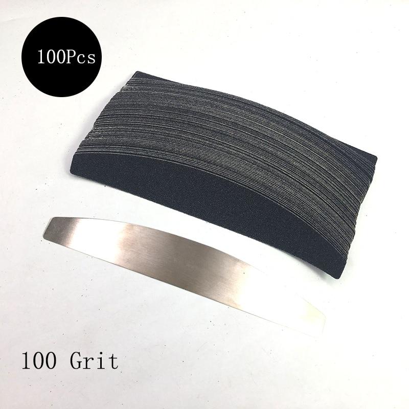 emery sanding board manicure substituível barra de
