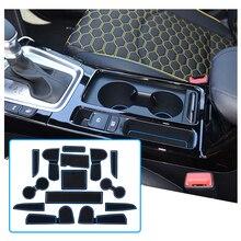 RUIYA For Ceed 2018 2020/XCeed 2020 Car Door Groove Mat Anti slip Slot Pad Auto Interior Organizer Accessories 15 Pieces
