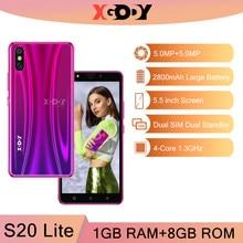XGODY S20 Lite 3G Smartphone 1G 8G Android déverrouiller les téléphones mobiles 5MP caméra GPS WiFi téléphone portable Quad Core 5.5 pouces double SIM 2020
