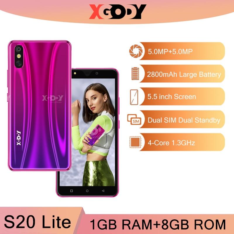 XGODY S20 Lite 3G Smartphone 1G 8G Android odblokuj telefony komórkowe 5MP aparat GPS WiFi telefon czterordzeniowy 5.5 cal Dual SIM 2020