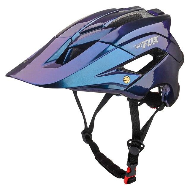 Batfox capacete de bicicleta estrada mountain ciclismo capacetes integralmente moldado ce mtb com viseira de sol das mulheres dos homens ultraleve capacete da bicicleta 3