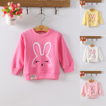 DIIMUU Kids Baby Girls Cotton Sweater Tops Clothes Child Girl Casual O-neck T-shirt Clothing underwear lucky child for girls 23 25 3m 18m shirt underpants baby clothing children clothes t shirt