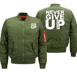 Image 3 - Bomberjack Mannen Geef Nooit Streetwear Dikke Jas Militaire Uitloper Heren Jassen Herfst Winter 2019 Plus Size 8XL Losse