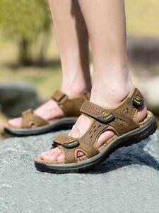 SURGUT Sandals Men Shoes Summer Beach High-Quality New-Fashion The Leisure Big-Yards