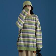 2021 New Super Dalian Hoodie Ladies Striped Loose Ladies Pullover