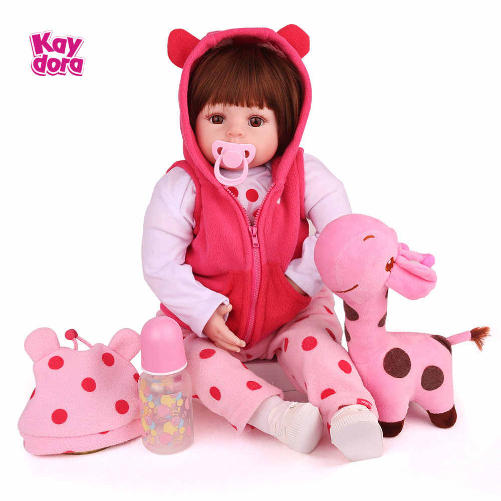 47 см/55 см Силиконовая Возрожденный ребёнок куклы Bebe жив Menina, малыш, как настоящая Boneca реалистичные девочка кукла lol на день рождения игрушки для детей