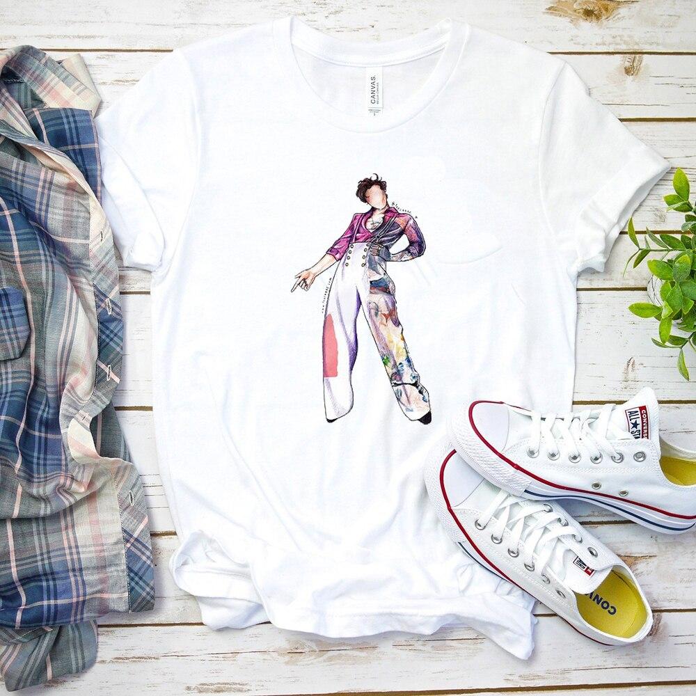 Fine Line RipT-shirt Unisex Geek Hip-hop Tops Funny Harry Styles Cartoon Graphic Tops&tee