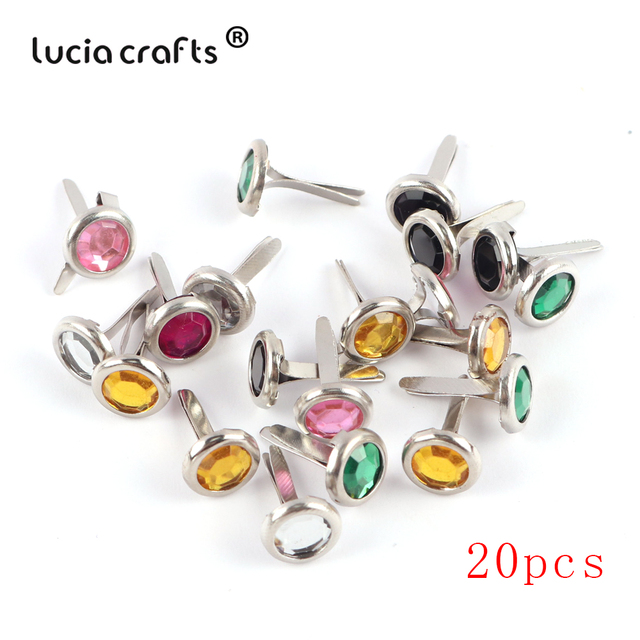 Lucia artisanat 2020 mélange métal Brads bricolage Scrapbooking artisanat pour décoration intérieure embellissement attache Brad 19 Design G0946