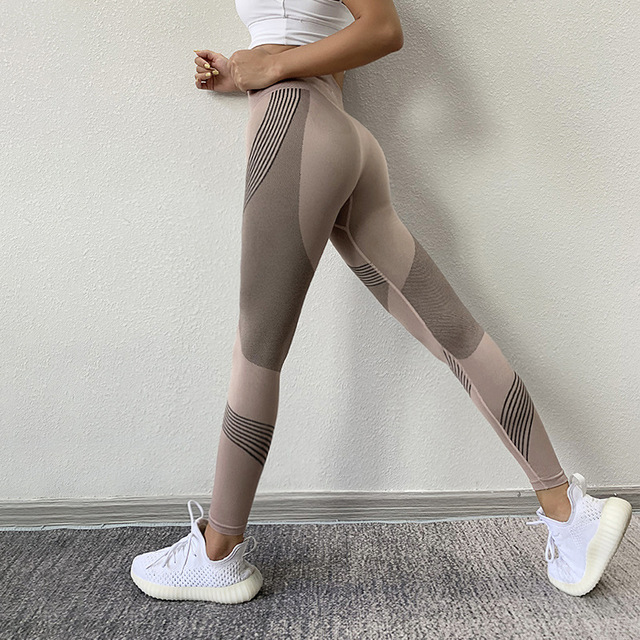 NORMOV Seamless Women Leggings Casual High Waist Push Up Ankle Length Leggings Workout Jeggings Patchwork Fitness Leggings Gril 6