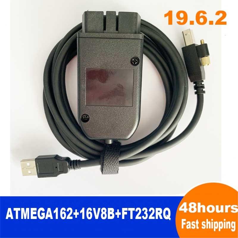 Main Test Diagnostic Cable For Car OBD2-OBDII-USB-interface 2nd 19.6.2 ATMEGA162+16V8B+FT232RQ