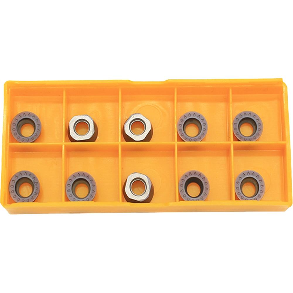 Купить с кэшбэком 20pcs RPMT10T3 MO E VP15TF Turning Tool Carbide Insert RPMT 10T3 Face Mill Lathe Milling CNC Tools Milling Cutter Milling Tools