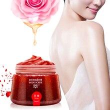 MICAOJI Rose Moisturizing Body Cream Scrub Natural face Exfoliator Remove acne Skin Care Brightening Plant Whitening 200g