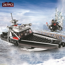 Special Forces Sea Assault Speedboat Model Building Blocks DIY Accessories Military SWAT Police Series Bricks Toys For Kids Gift