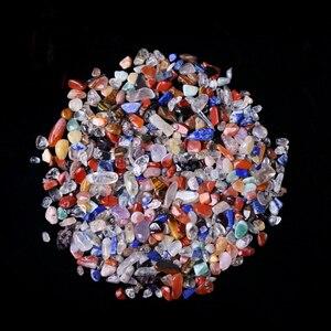 50 г 3 размера натуральный смешанный кварцевый кристалл камень Гравий образец Танк Декор натуральные камни и минералы
