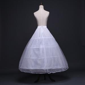 Image 2 - 2020 כלה אביזרי חתונה תחתונית תחתוניות 4 חישוקי קרינולינה תחתוניות כדור שמלת חתונת שמלות Jupon זול