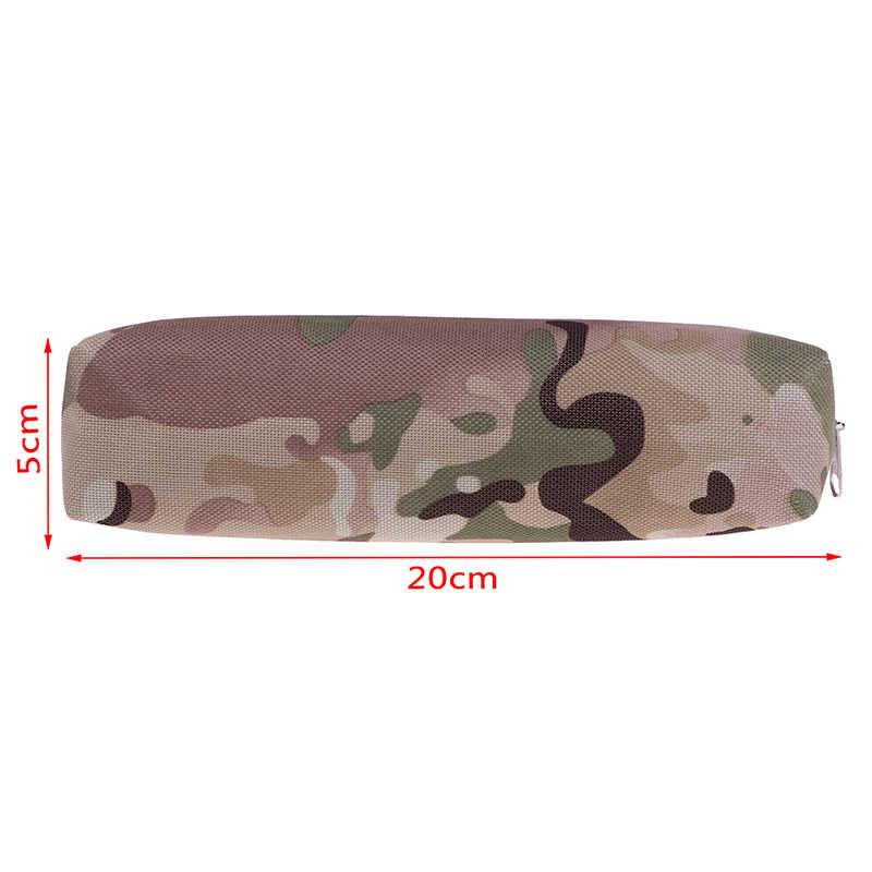 Artykuły papiernicze artykuły szkolne duży piórnik kamuflaż gorąca sprzedaż 4 kolor dla chłopców szkoła styl wojskowy płótno piórnik