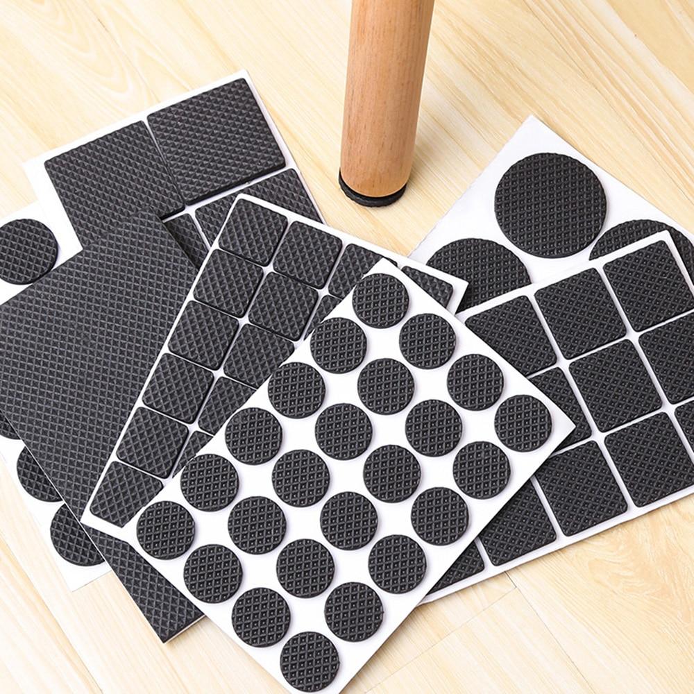 1-24PCS Thickening Self Adhesive Furniture Leg Feet Rug Felt Pads Anti Slip Mat Bumper Damper For Chair Table Protector Hardware