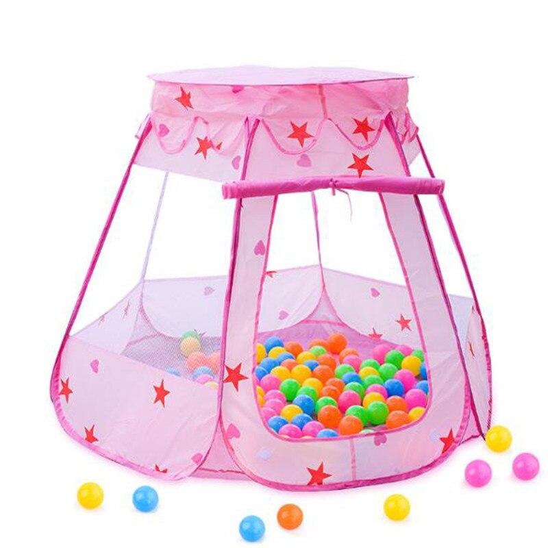 1 шт. складной Сказочный домик для маленьких девочек, игровые игрушечные палатки, Детские океанские шарики, бассейн, игрушки для улицы и поме...