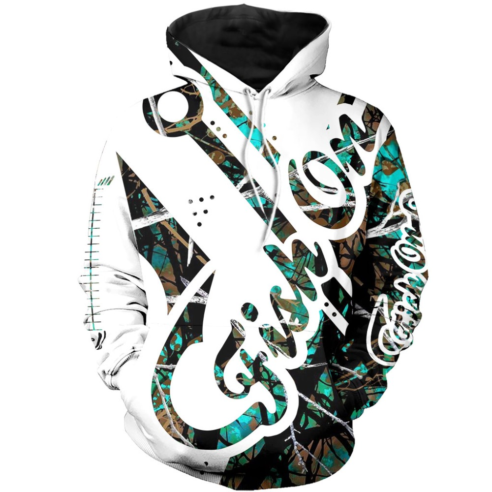 2020 Fish on Hook Camo Muddy <font><b>3D</b></font> All Over Printed Mens Hoodie Harajuku Fashion Sweatshirt <font><b>Unisex</b></font> Casual <font><b>Hoodies</b></font> Fashion tops image
