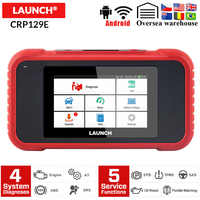 Launch CRP129E OBD2 Car Diagnostic Tool Engine ABS SRS AT X431 CRP129 E Code reader with Oil SAS EPB TMPS Reset pk CRP129 NT650