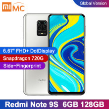 Version mondiale Xiaomi Redmi Note 9S 6GB 128GB Smartphone Snapdragon 720G Octa core 5020 mAh 48MP Quad caméra 18W charge rapide(China)