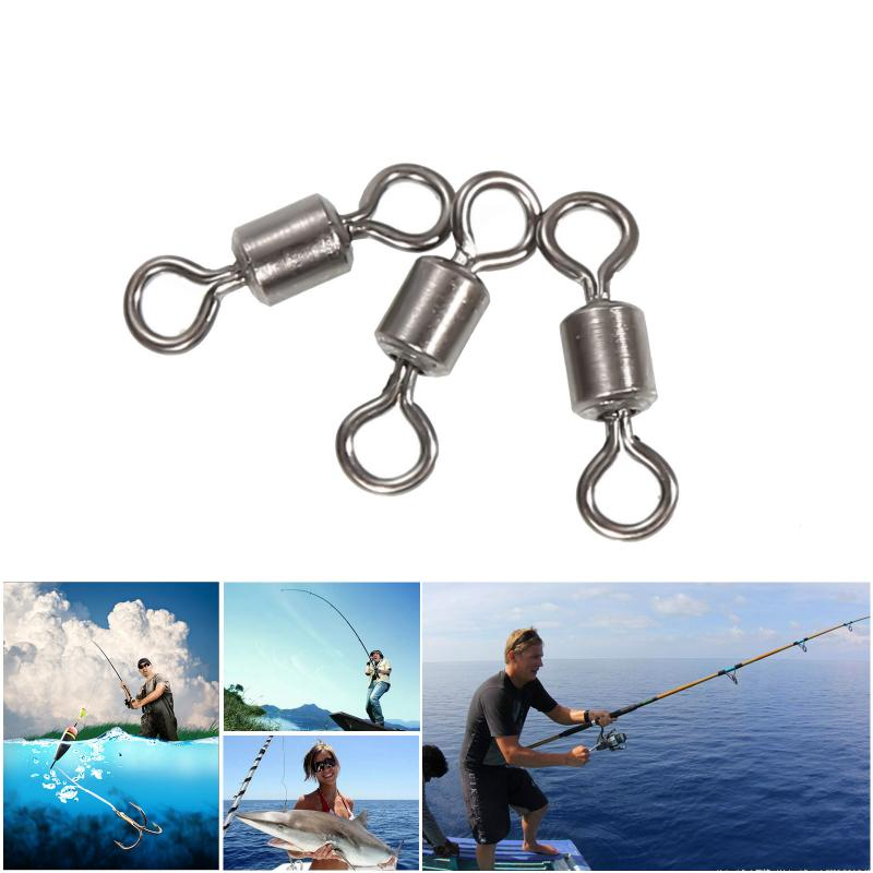 50pcs Fishing Swivels Rolling Connector 8 Word Solid Ring Fish Tool Link Fishing Button Sea Fishing Tackle Accessories 2020 New