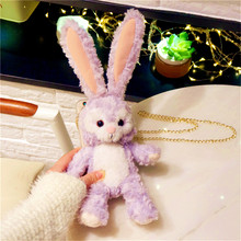 Rabbit Hair Fur Case For LG K50 40 Q6 G8 G7 G6 G5 G4 Q7 V40 V30 V20 K8 K11 Stylus 4 Cute Fluffy Winte Warm Cover Bunny Cony(China)