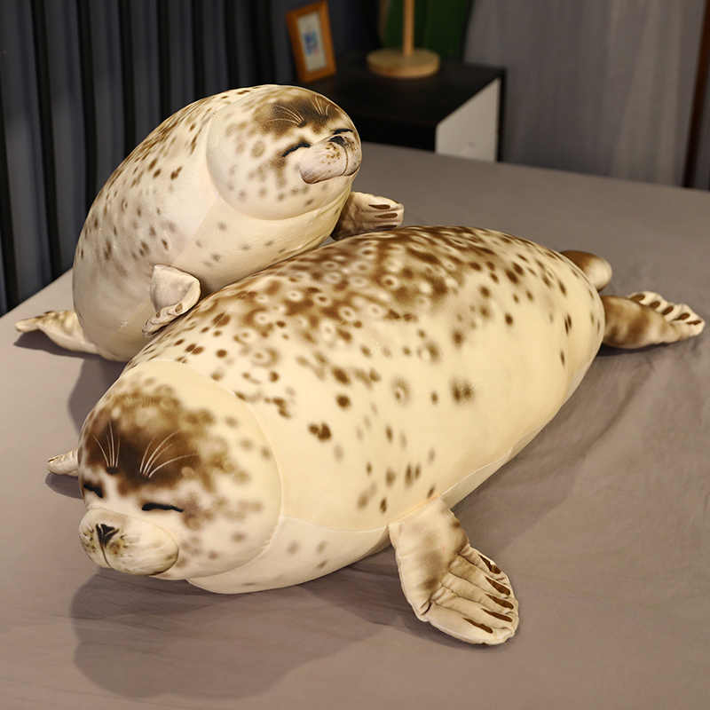 Angry Seal Pillow Plush Seal Cute Animal Toy Pillow Seal Giant Stuffed Doll