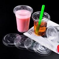 90/93/95/98 calibre Leite Chá Tampa Do Copo Descartável Círculo Transparente Bebida Copo Copo de Suco De Fruta De Plástico cruz Tampa Plana|Caldeiras de ovo| |  -