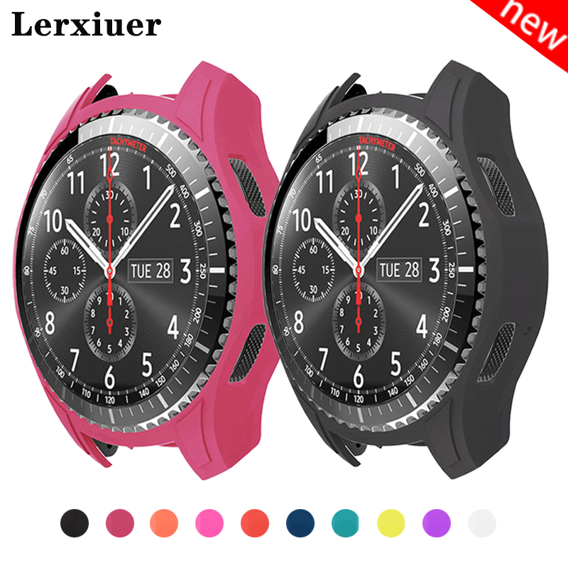 Protect Watch Case for <font><b>Samsung</b></font> Gear <font><b>S3</b></font> <font><b>Frontier</b></font> 22mm <font><b>smartwatch</b></font> R760 Silicone Colorful Protective Cover frame rubber shell image