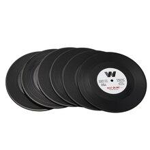 New-6pieces/набор спиннинг Ретро виниловый диск подставки для напитков