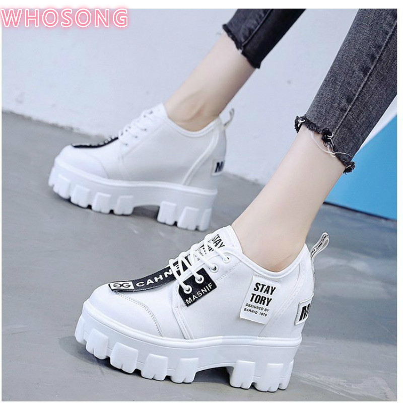 2020 new Autumn Women lace-up Sneakers Breathable Platform Shoes Designer Chunky Sneakers Fashion Basket Femme Dad Casual Shoes 1