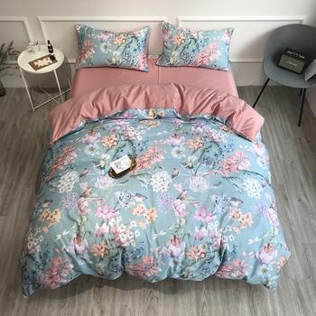 Egyptian Cotton Bedding Set Pastel Florals