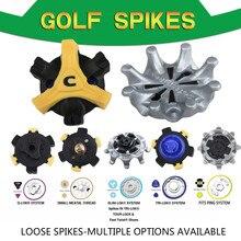 14 pces sapatos de golfe spikes grampos soltos várias opções pontos de golfe substituição caber ping/TRI-LOK/SLIM-LOK/pequeno sistema meatal/Q-LOK