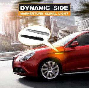 2 шт. динамический Светодиодный Боковой габаритный фонарь светодиодный поворотник мигалки светильник для Alfa Romeo 940 Джульетта Sprint Veloce 10 21 Canbus Error Free|Сигнальная лампа|   | АлиЭкспресс