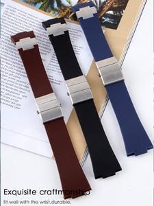 Image 1 - רצועת השעון צמיד סיליקה ג ל שעון להקת ליוליסס Nardin הימי עמיד למים גומי שעון רצועת ספורט 25*12mm גבר שעונים ספורט