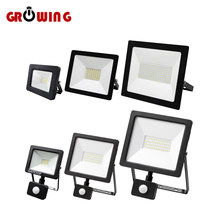 LED Floodlight Induction Style 10W 30W 50W 100W Motion Sensor IP65 Cold White Light 6000K Human Body Induction Water Proof Lamp