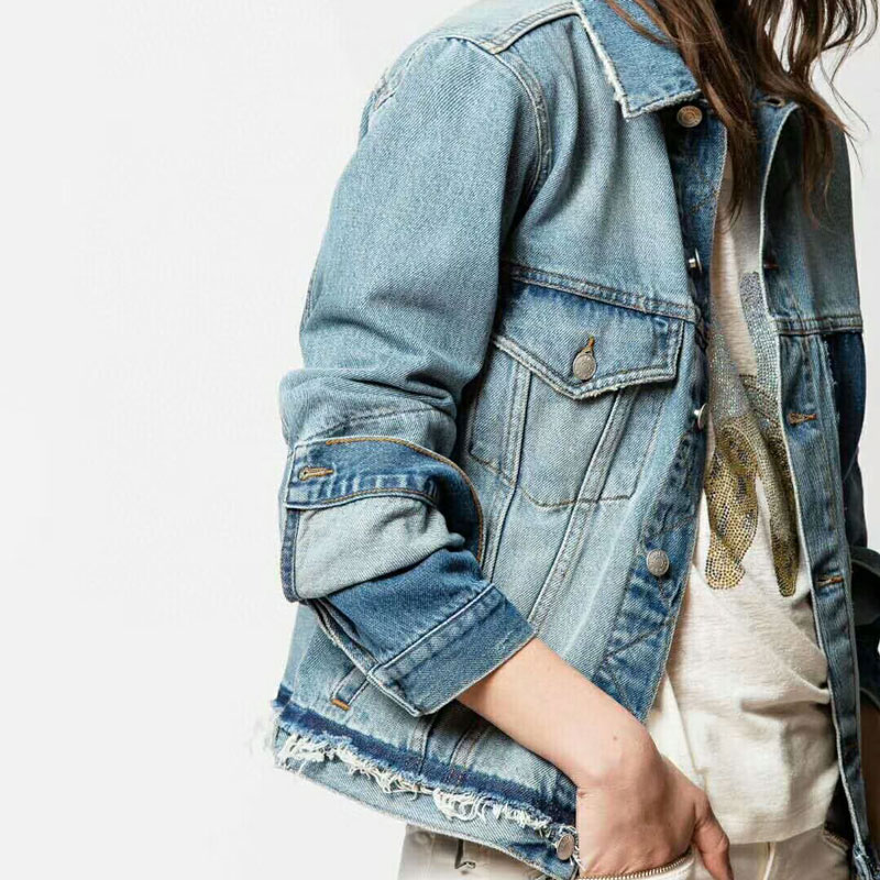 Women Jacket New Blue Denim Jacket