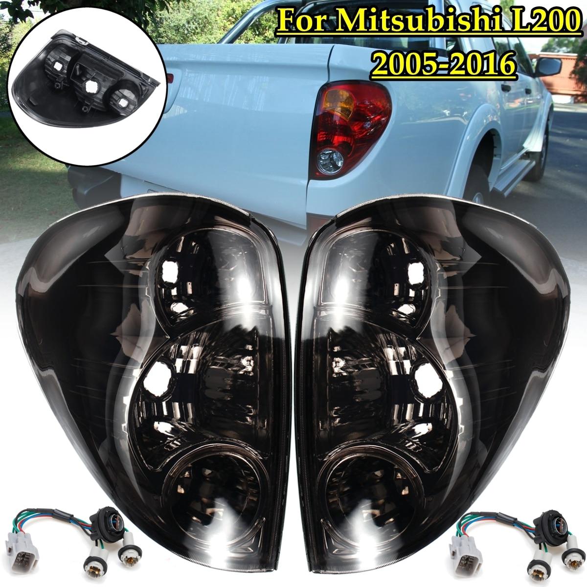 Автомобильные задние фонари для Mitsubishi L200 Triton Colt 2005-2016 Пикап 1 пара задние лампы стоп-сигналы с проводом Замена дыма