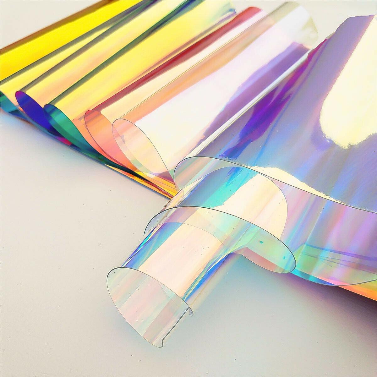 20*30 см/95 см прозрачный материей типом пх Радужный голографический лазер Радуга блестящие виниловые
