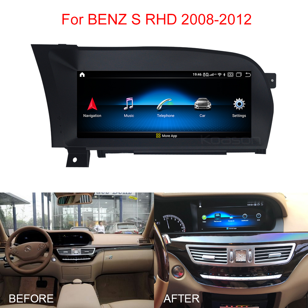 Android 10.0 Qualcomm 10.25 inch Screen Car <font><b>GPS</b></font> Navigation <font><b>for</b></font> <font><b>Mercedes</b></font> Benz S W221 S280 S350 <font><b>S500</b></font> Vehicle Multimedia Player image