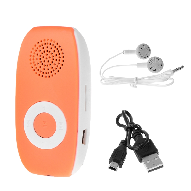 Mini Clip MP3 Player With Micro TF / SD Card Slot+USB Data Line+Sport Headset N84A