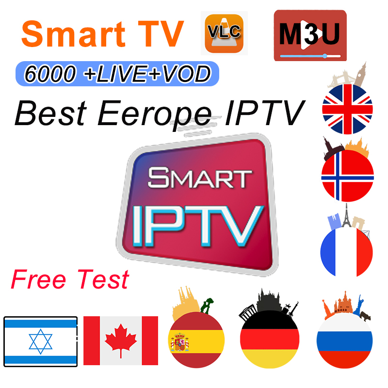 1/3/6/12 Months IPTV German French Turkish Morocco UK Poland Hungary Czech Spain Portugal  HD IPTV Support Android M3U Smart TV
