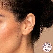 ROXI 925 Sterling Silver Ear Clip Earrings Simple Ear