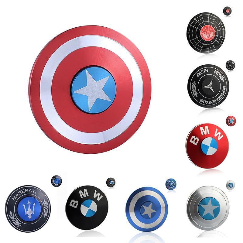 Captain America Shield Fidget Spinner Spider Man Iron Man Decompression Toy Spinner Metal Childen Fidget Toys Hand Spinner Metal
